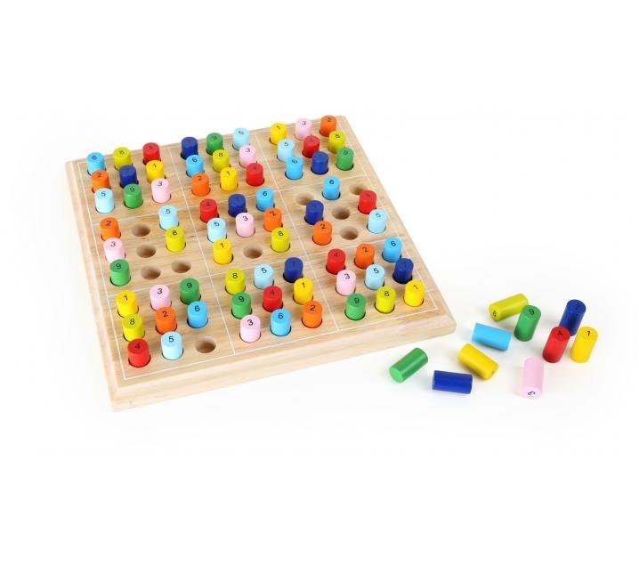 Sudoku de fusta per a infants