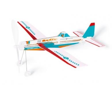 Avión con goma