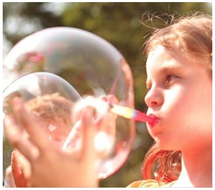 Crea burbujas y formas