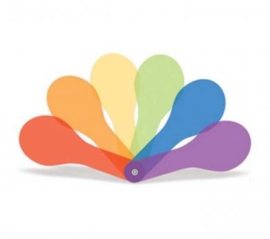 Paletas translúcidas de colores