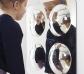 Espejo convexo de 4 domos