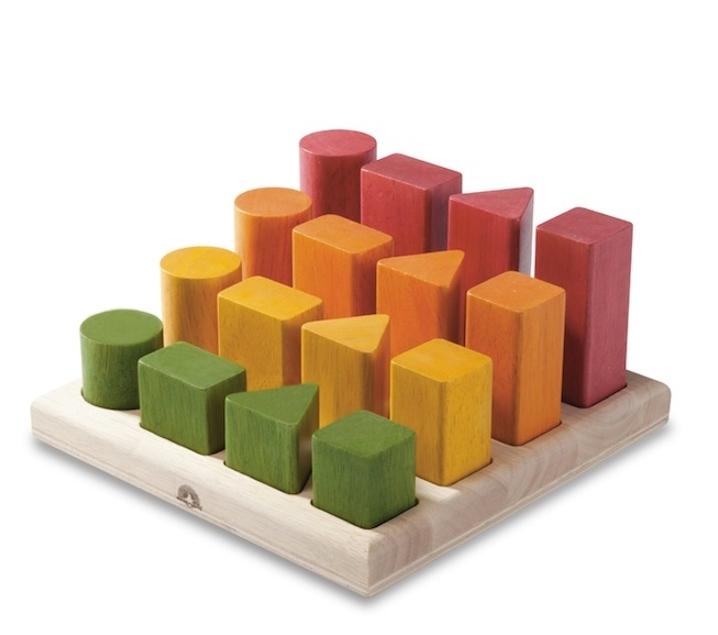 Blocs escalonats de fusta Montessori