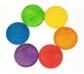 6 bases de madera arco iris