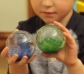 7 bolas con purpurina