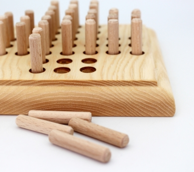 Solitario de madera