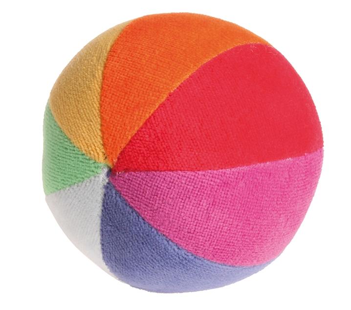 Bola de algodón orgánico con sonajero