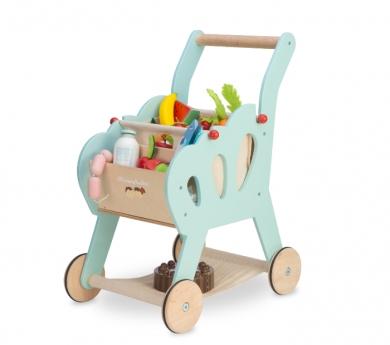 Carretó de súper de joguina de fusta