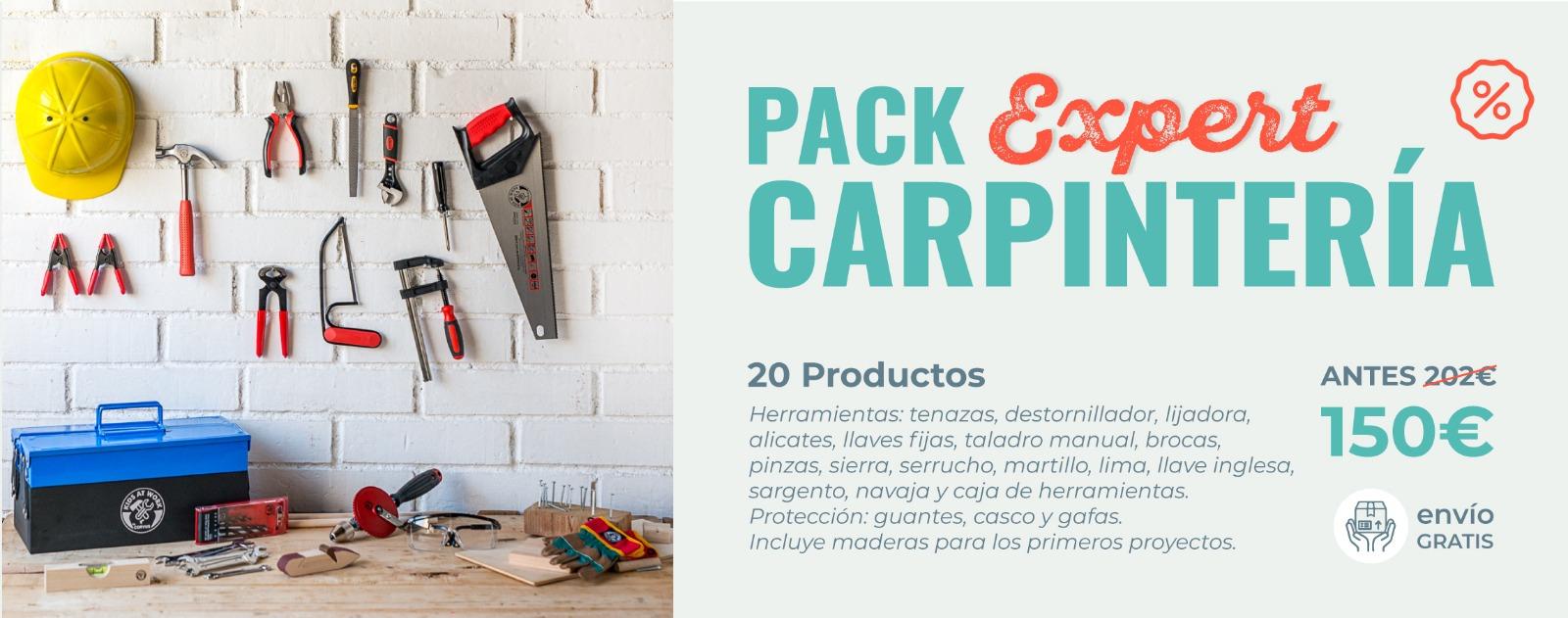 Pack de maderas y herramientas EXPERT