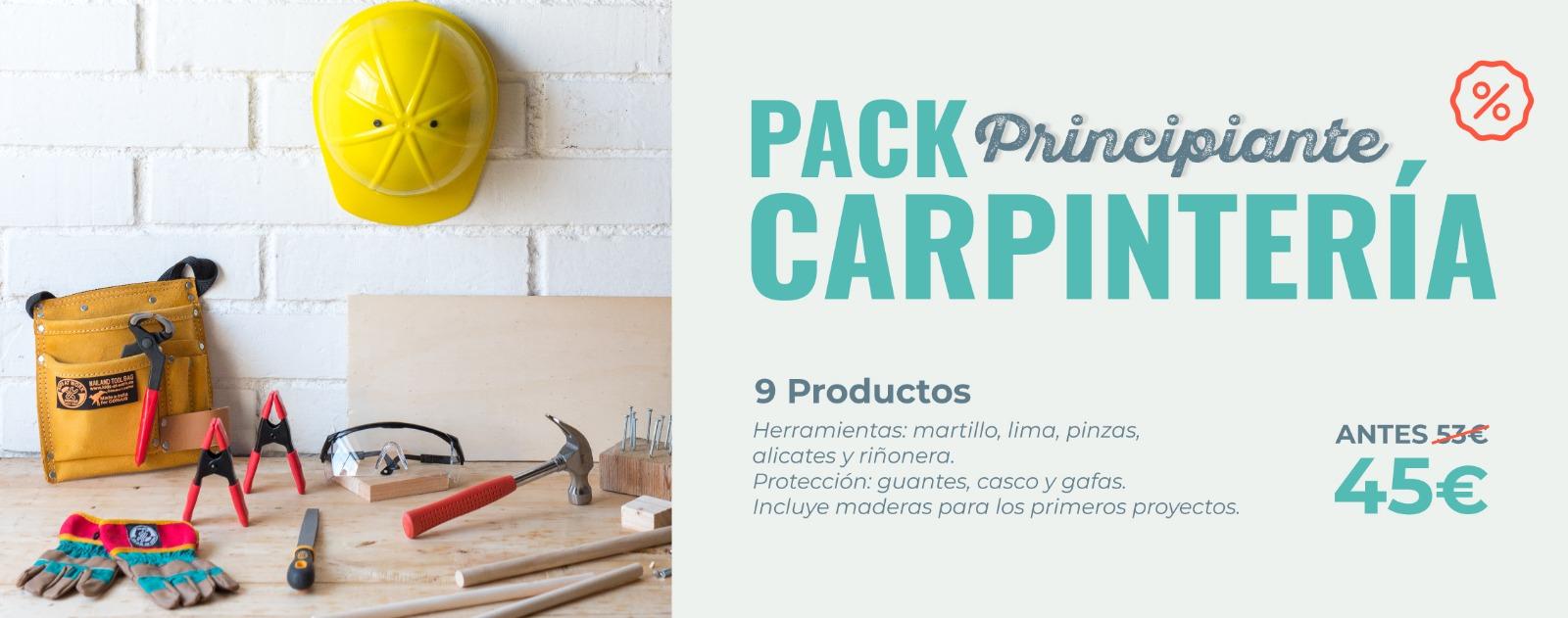 Pack de maderas y herramientas PRINCIPIANTE